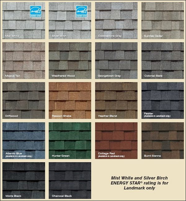 certainteed shingles colors image gallery - hcpr